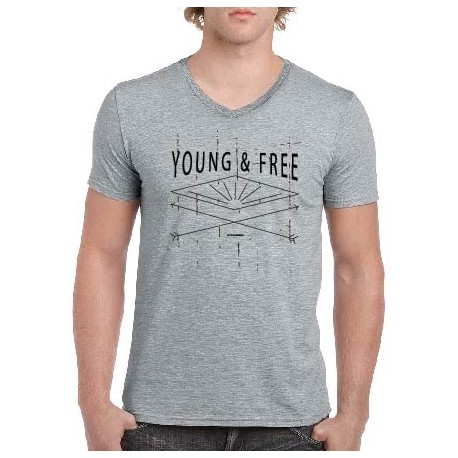 Tricou crestin Young And Free - cod CMKYoung