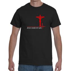 Tricou crestin JESUS SAVED MY LIFE - cod SAVEDblk
