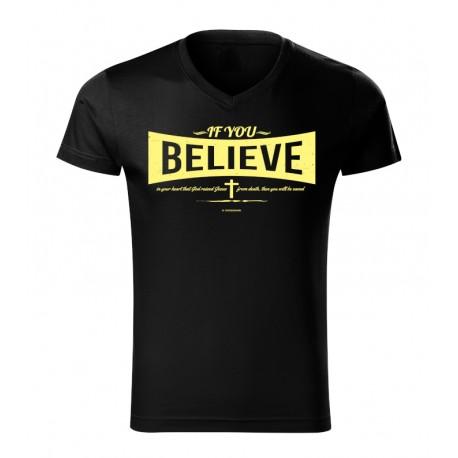 Tricou crestin Believe NOU