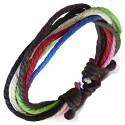Bratara din sfori Multicolora ajustabila - FBK879 nou